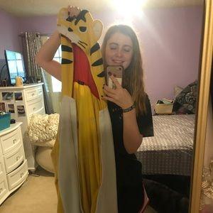 Cartoon yellow tiger onesie